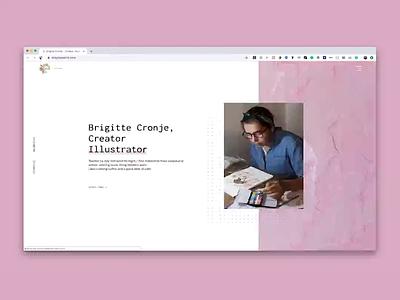 Brigitte Paints Website animation web design webflow
