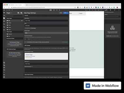 Webflow Layoutz design html5 web design css3 webflow
