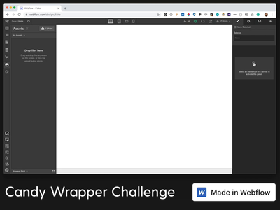 Flake Chocolate wrapper design in HTML & CSS with Webflow