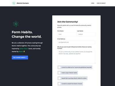Atomic Humans - Reading through Atomic Habits web animation lottie animation css3 webflow