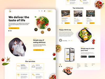 Food delivery web and mobile app figma
