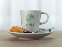 oWise Logo Suggestion On Coffee Cup