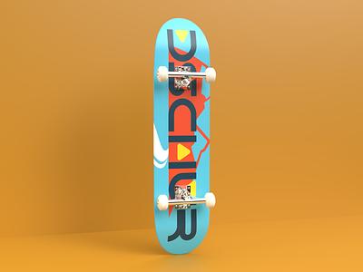 Dschur classic skate mockup v1 mockup photorealism dimension 3d design 3d