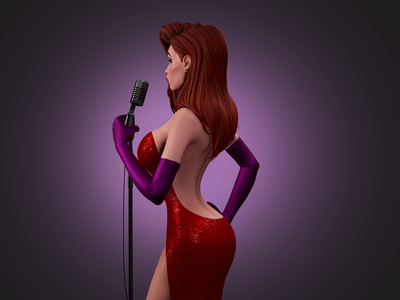 Jessica Rabbit stylized digitalart character design cgart character 3dmodelling 3d art