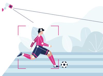 Computer vision in Sport Industry illustrations web vector illustration design