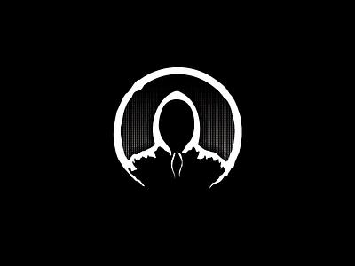 Mysterious Professional icon emblem artist mark white black identity symbol brand logo
