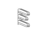 Layered E Monogram
