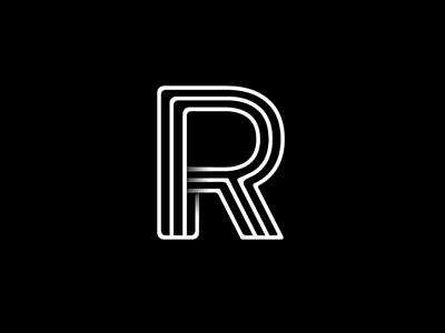R Monogram typographic type symbol outlines monogram mark logo letters identity icon font brand