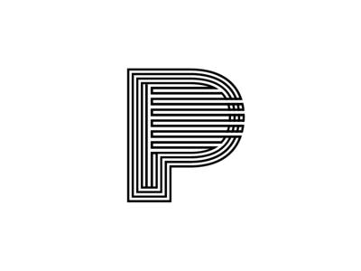 P Monogram typographic type symbol outlines monogram mark logo letters identity icon font brand