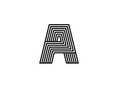A Monogram typographic type symbol outlines monogram mark logo letters identity icon font brand