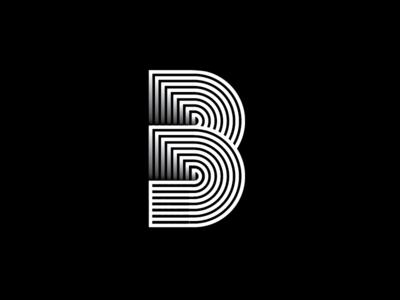 B Monogram typographic type symbol outlines monogram mark logo letters identity icon font brand
