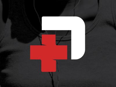 Branded Medical Pack Symbol symbol medical mark logo identity red curves colorful p brand