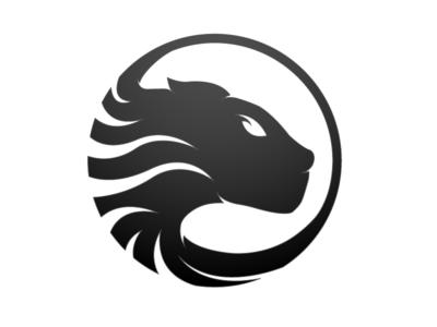 PROWL Symbol symbol negative mark logo identity gradient curves cat circle brand