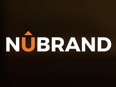 NUBRAND logo design symbol outline mark logo identity design u orange arrow brand