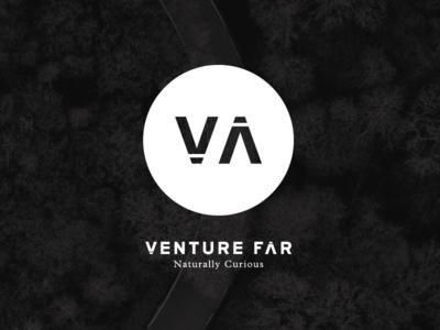 Venture Far Branding agency symbol outline mark logo identity travel circle brand