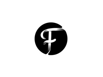 F Monogram font typographic type symbol 3d monogram mark logo identity icon brand letters