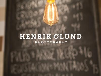 Henrik Olund Photography - Logo design ©2018 vector design icon mark brand photography minimal logotype symbol logo