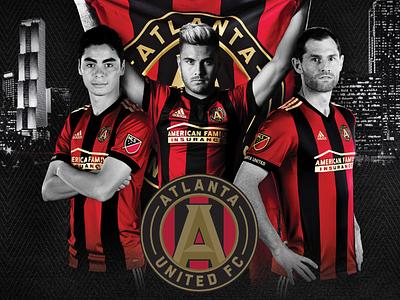 Atlanta United FC Schedule composite wacom layout athletic athlete sports digital photoshop futbol soccer