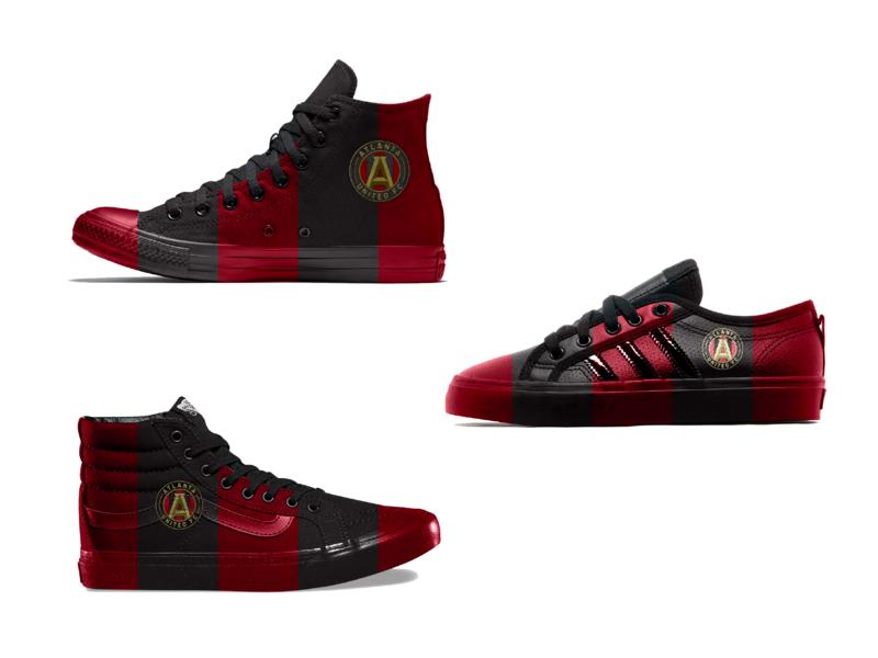 Atlanta United FC Shoe Concepts advertise athlete wacom photoshop concept design shoes futbol soccer sports