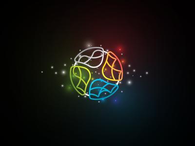 ELEMENT IND - Logo design brand elements colorful linear outline icon logomark mark symbol logo