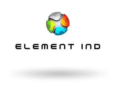 ELEMENT IND 3d linear elements colorful logomark icon symbol brand logo