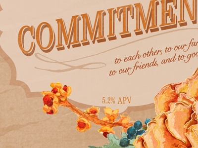 Wedding Beer Label Series: Commitment