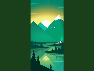 Scenery Illustration flat illustration ui design