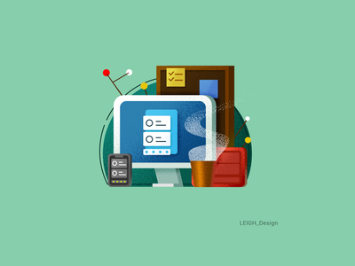 Mixed colour illustrations icon ui illustration design