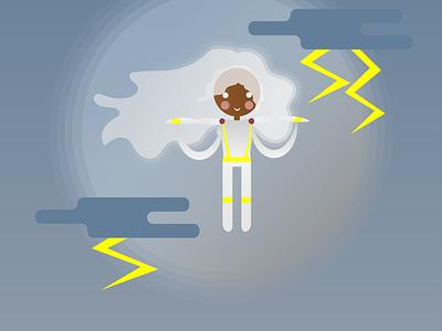 Storm marvel xmen storm vector illustration