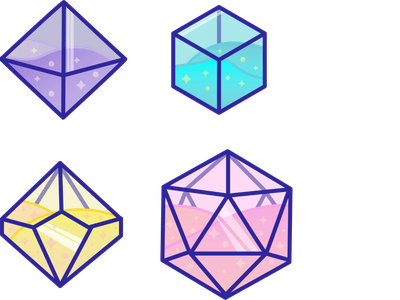 D&D Dice Assets logo design illustration vector assets dice dungeons  dragons