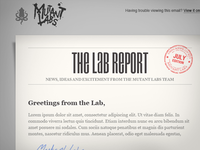 The Lab Report - Email newsletter