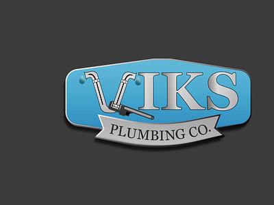 VIKS PLUMNING LOGO. 3d logos