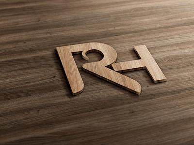 letter RH logo logo letter mark logo 3d logo letter rh logo letter logo