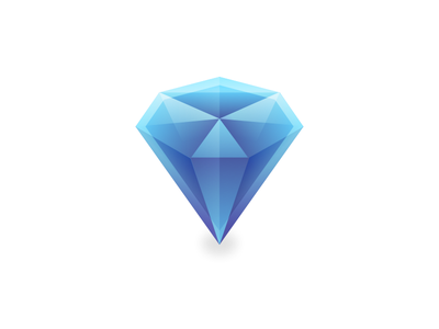 Diamond geometric gradient vector identity icon design brand logo illustration crystal diamond