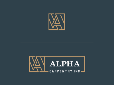 Alpha Carpentry Logo design identity typeface logotype construction branding logo carpentry alpha
