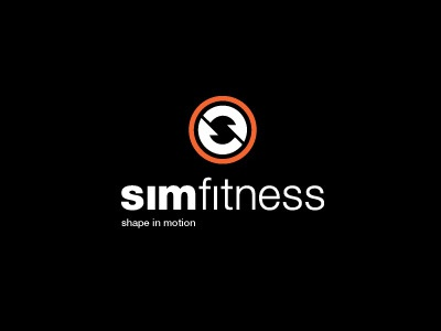 SimFitness Logo simfitness fitness gym fit health muay thai running shape in motion