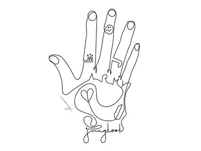 Jungkook's Hand Tattoo lineart