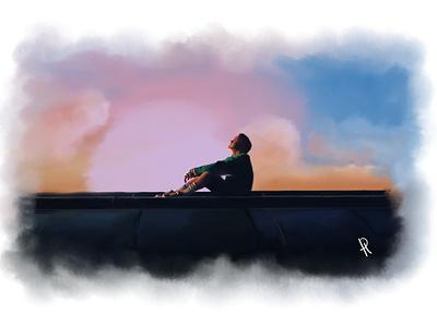 J-Hope digital painting