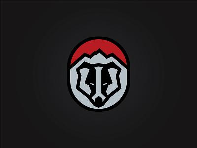 MORE BADGERS! logo design mad animal angular sharp sports team logo animal logo branding black and white badger mark logo badger