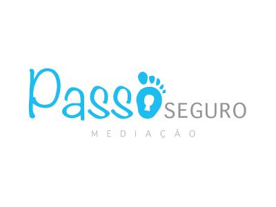 Insurance Company Logo logo blue insurance footstep portugal