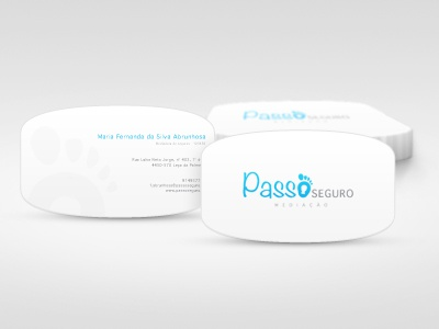 Business Cards logo insurance blue portugal footstep business cards