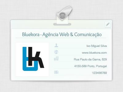 Company & user ID Tag bluekora user card blue light metal transparent id tag iconsweets2