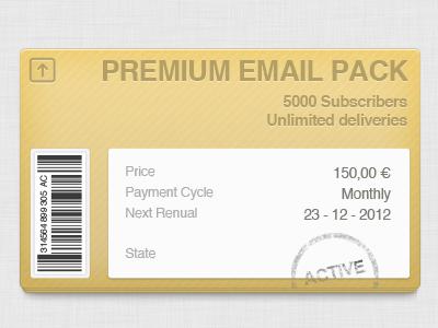 Email Pack pack bluekora brown sticker stamp barcode