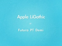 5cddec & Apple LiGothic