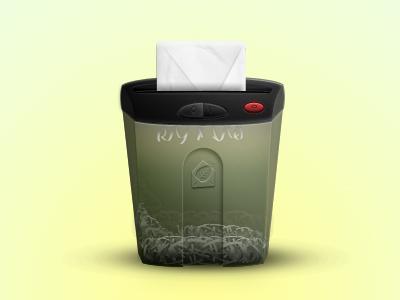 Mr Report Abuse v2 light transparency button shadow portugal papper envelope texture illustration shredder