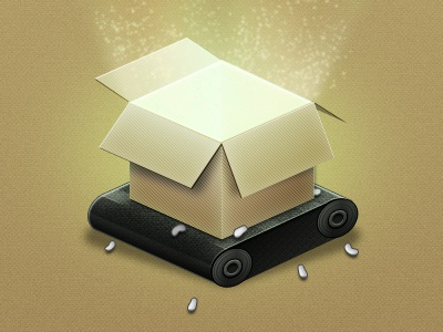 Box for a Login page box light shadow sparkle roller