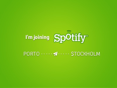 I'm joining Spotify work spotify sweden stockholm music green