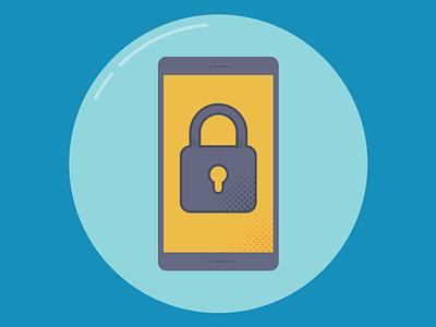 Icon #2 - 3 locked phone mobile