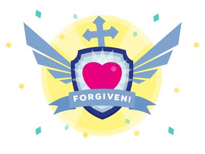 Forgiven Badge illustration unlockable badge