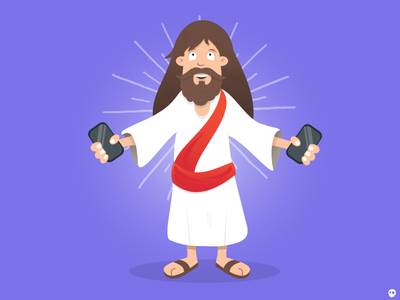 MG JC jesus lookalike vector website illustrations characters illustration